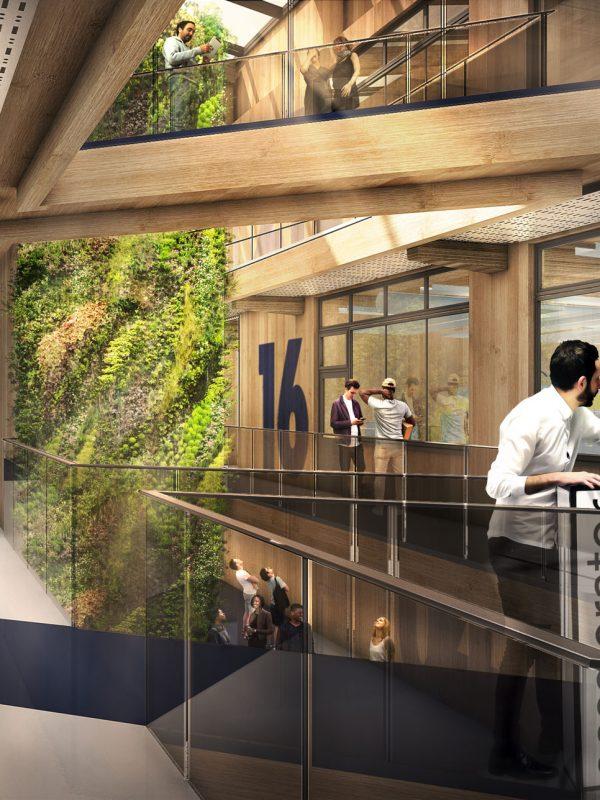 Bristol & Bath Science Park BBSP2 Accelerator Atrium CLT Laminated Timber Offsite