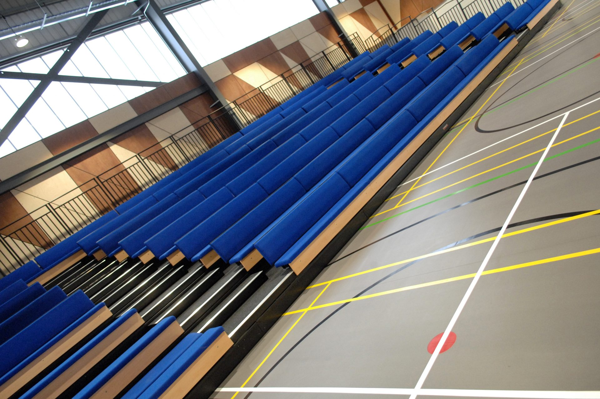 Berkeley UTC Challenge Arena Sports Hall Bleacher Seating