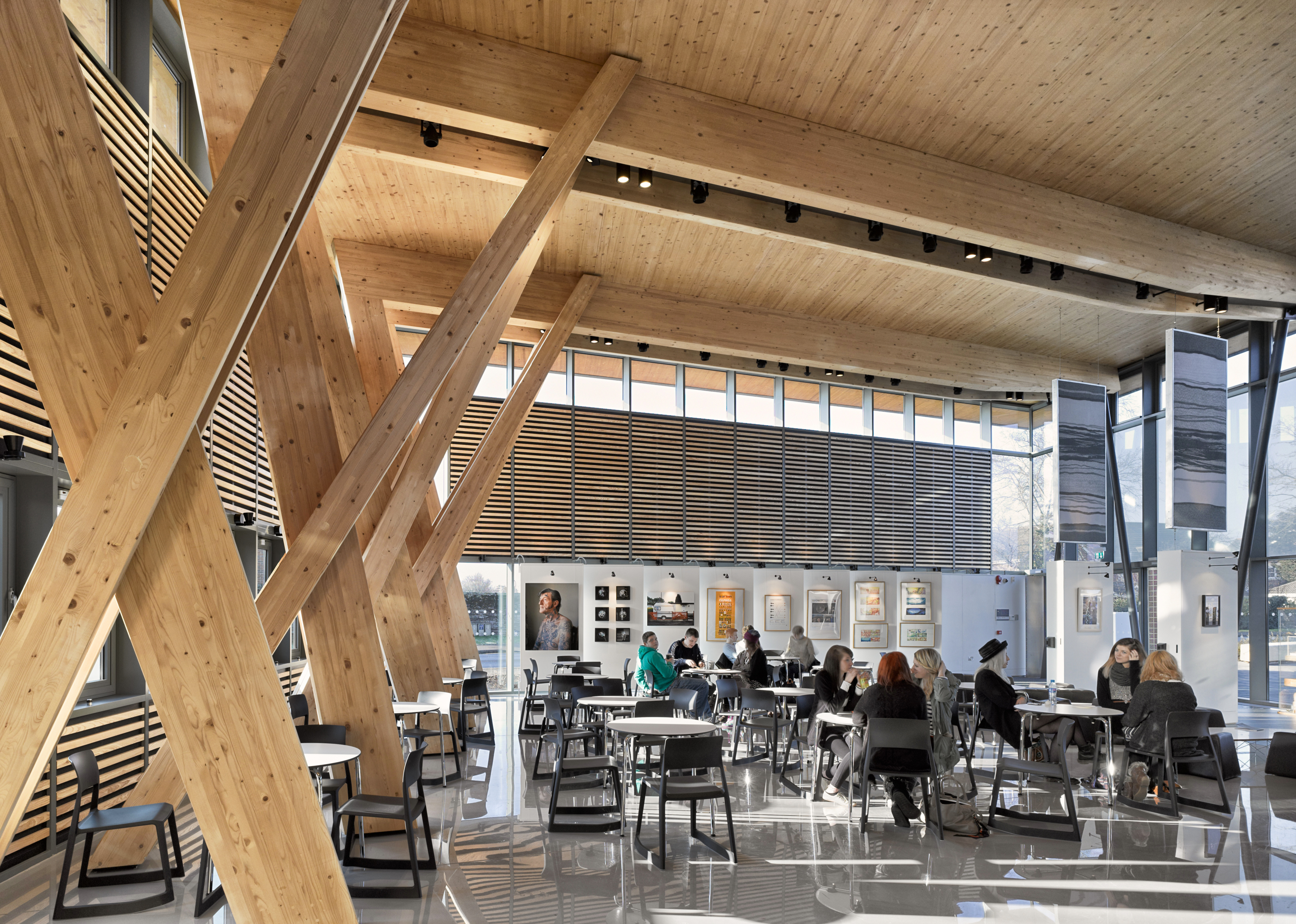 HCA Hub Cafe laminated timber structure vitra furniture
