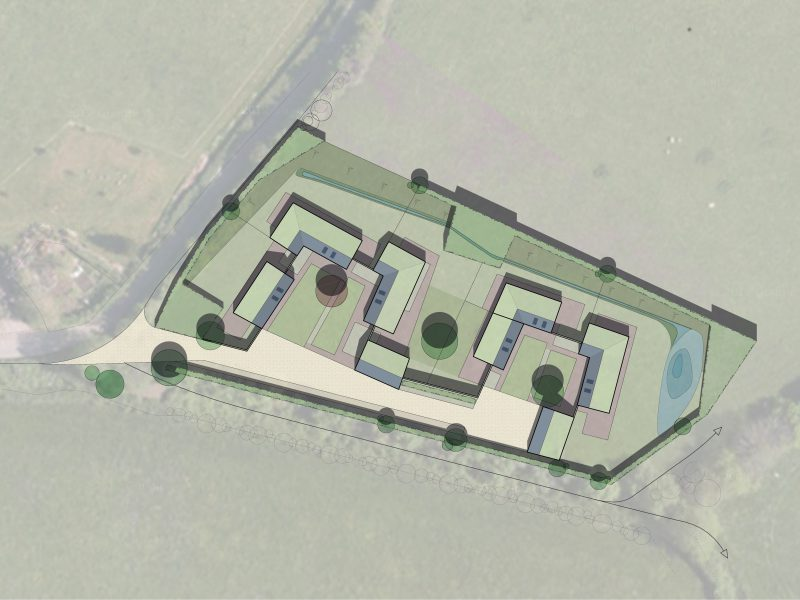 Brompton Ralph Affordable Passivhaus Site Plan Green Roof