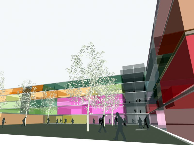 Wiltshire College Salisbury Colourful Sketchup Model