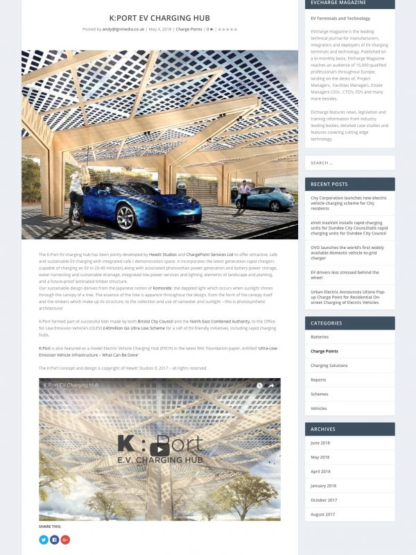 EVcharge Magazine KPort EV Charging Hub