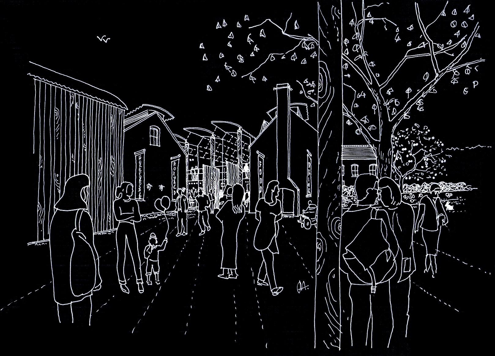 Herefordshire Food & Drink Centre Sketch Visualisation