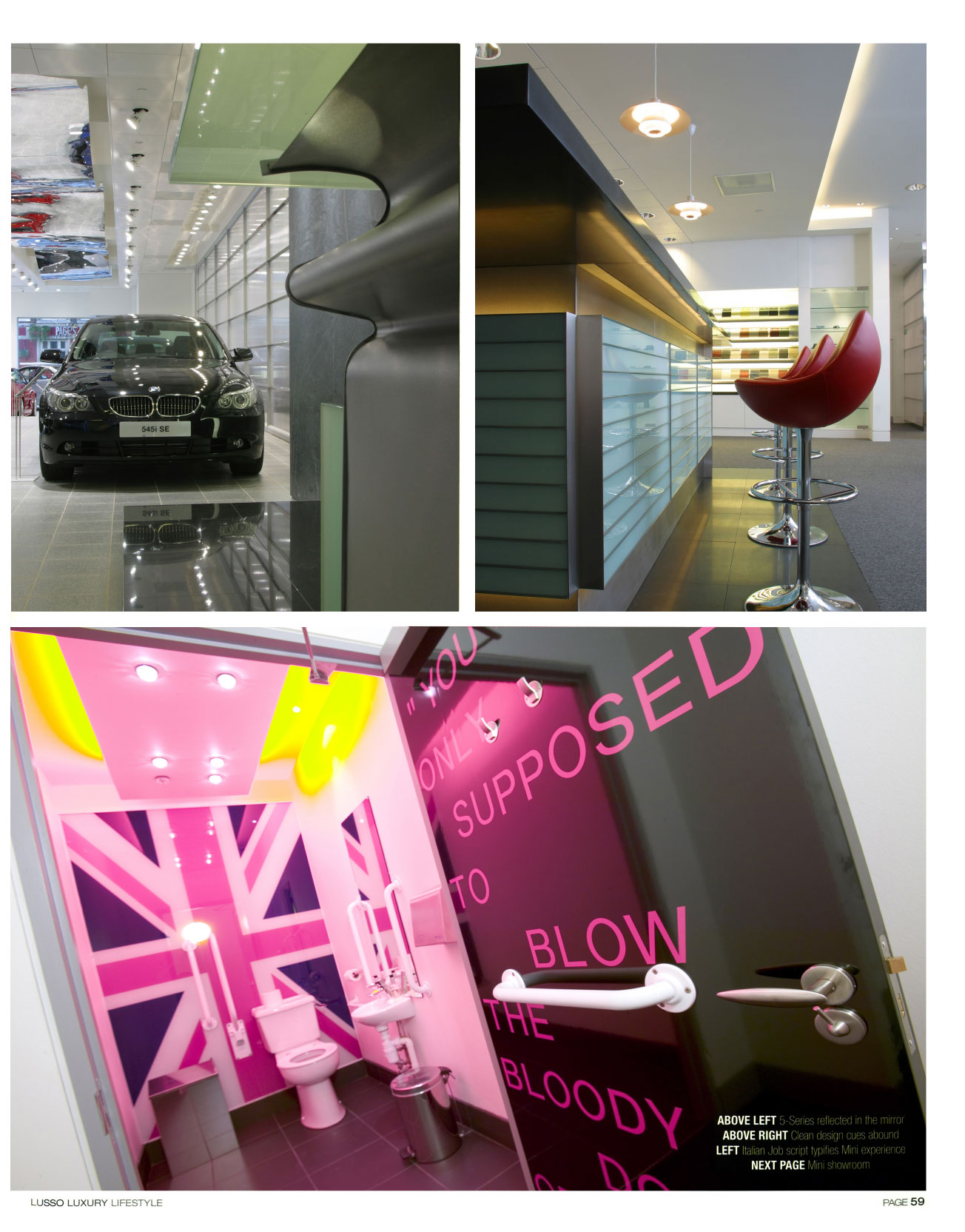 Lusso Magazine Confessions of a Carchitect Carchitecture BMW Mini Park Lane
