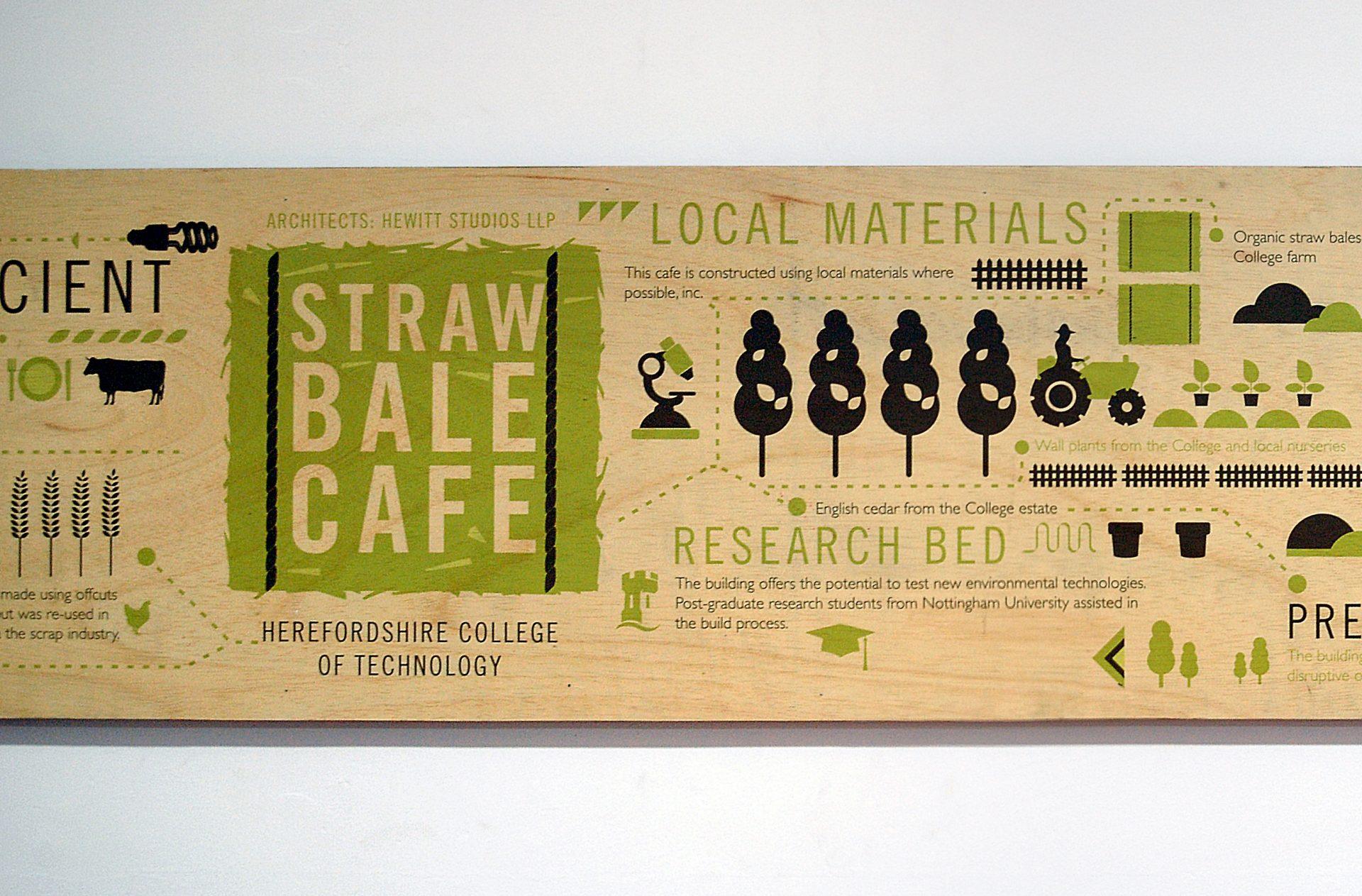Straw bale cafe