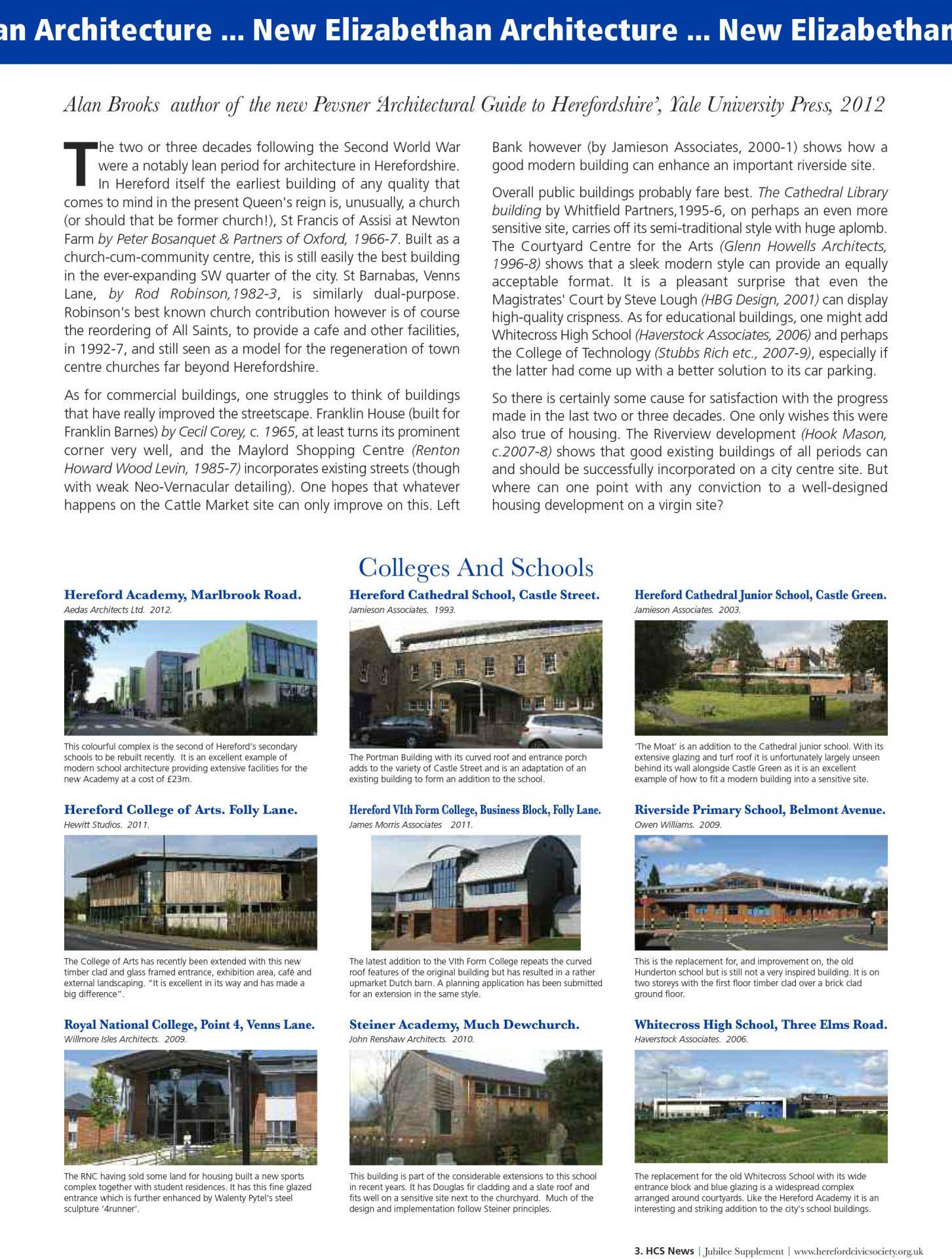Hereford Arts College Hub Pevsner Civic Society