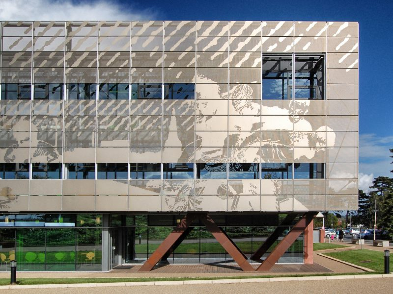 Herefordshire and Ludlow College Perforated Aluminium Screen Corten Structure