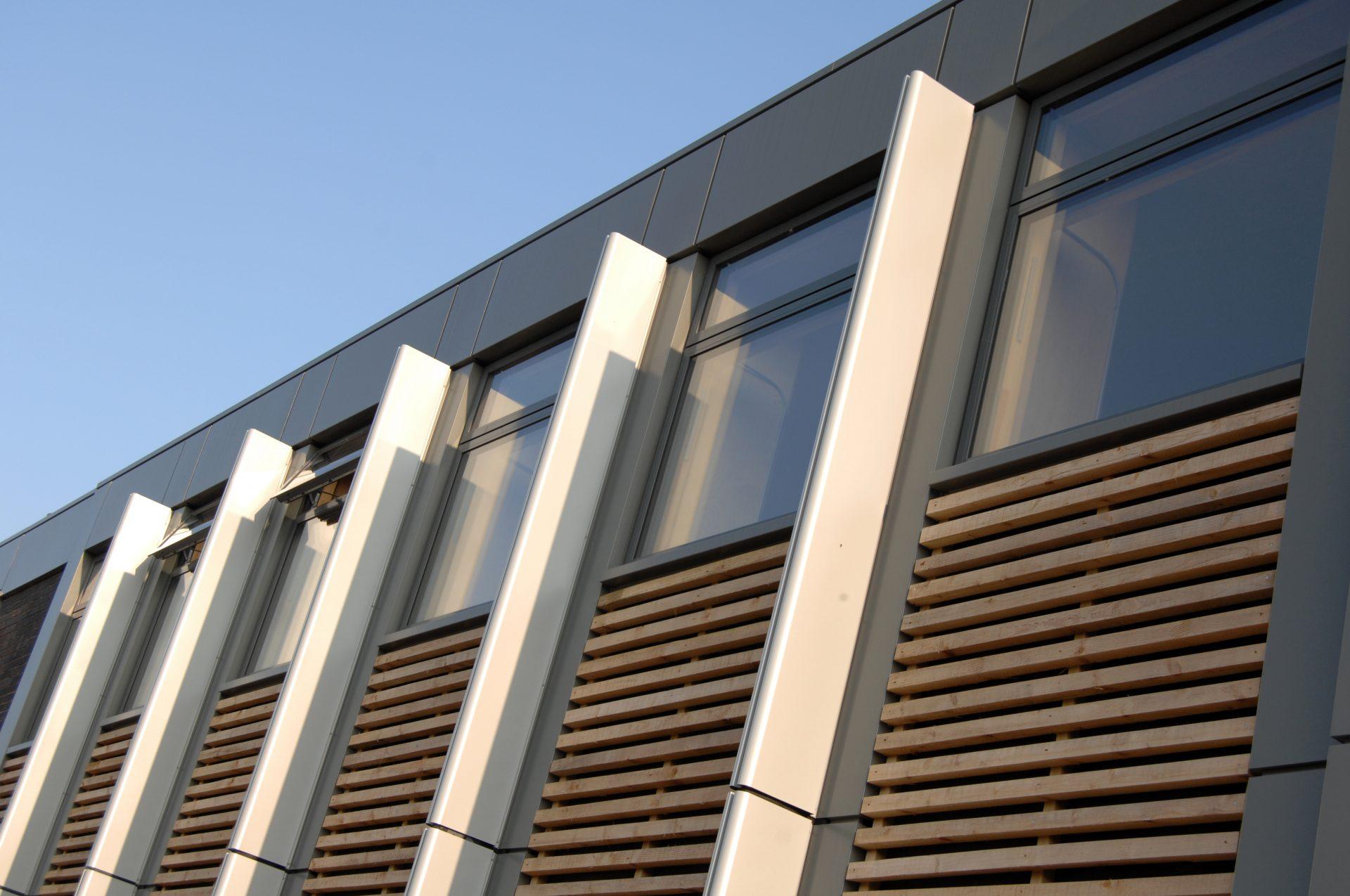 Holme Lacy LRC Cedar Aluminium Shading Fins