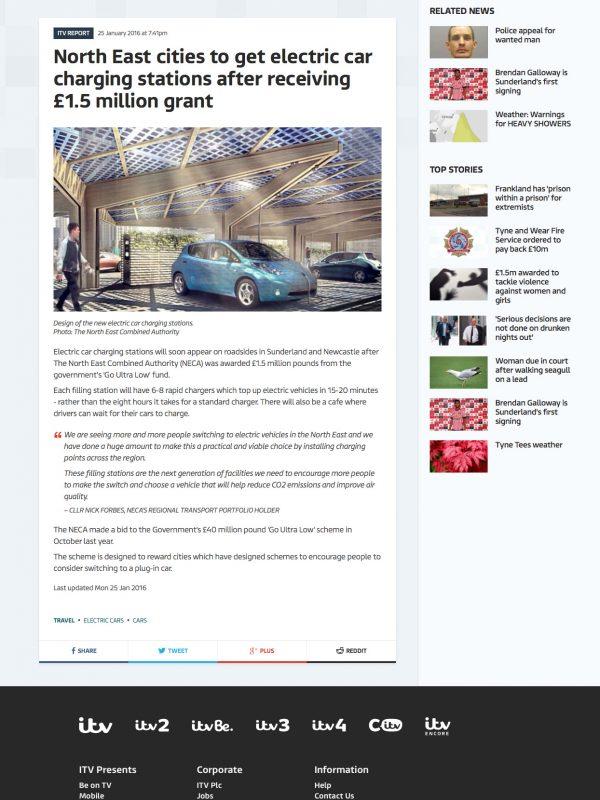 KPort EV Charging Hub NECA ITV News Hewitt Studios