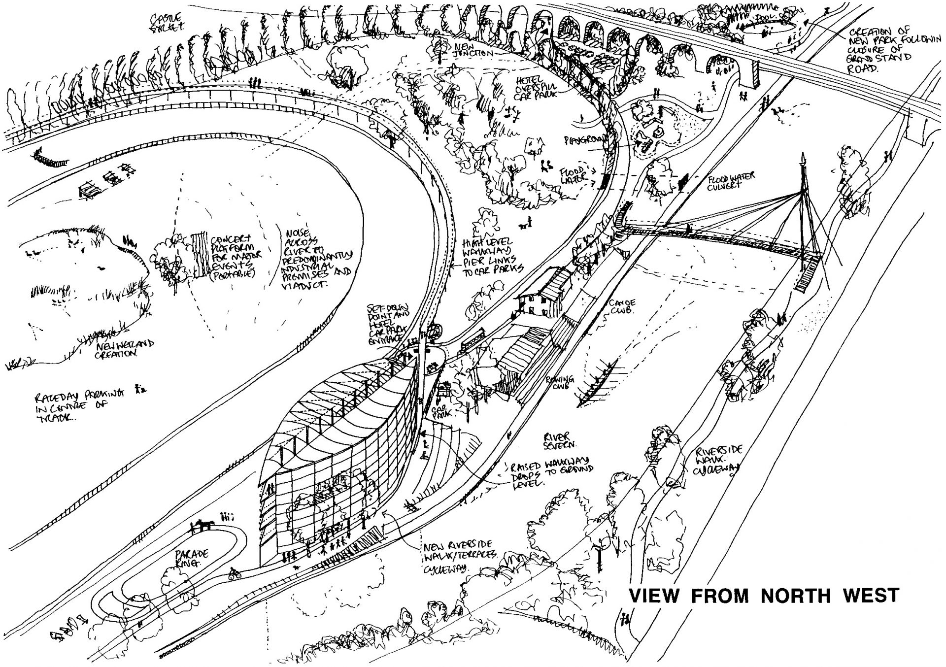 Worcester Racecourse Sketch Axonometric