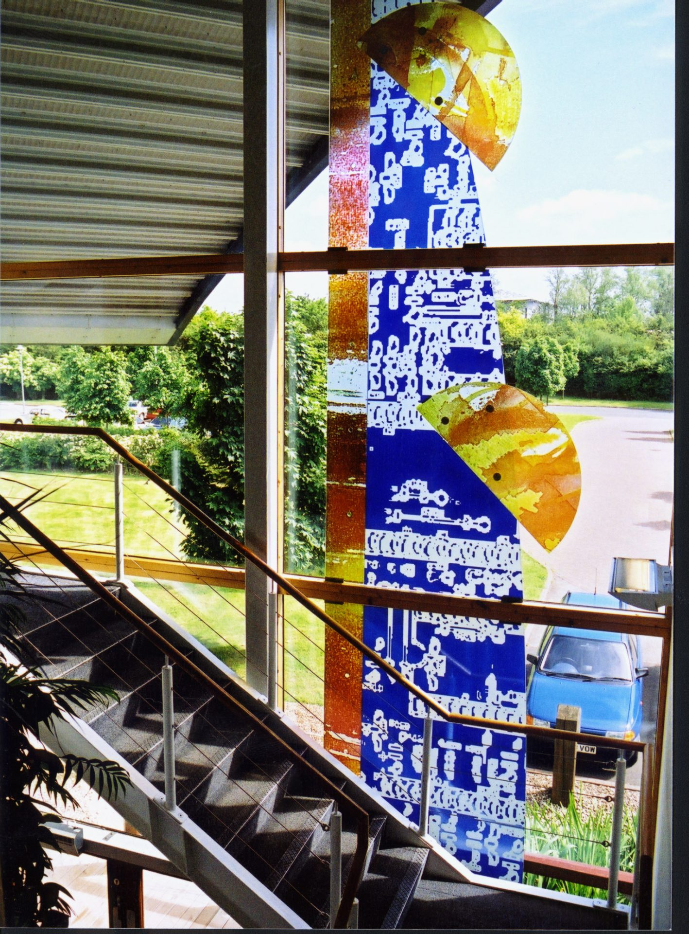 SouthCo Staircase Glazing Glass Art