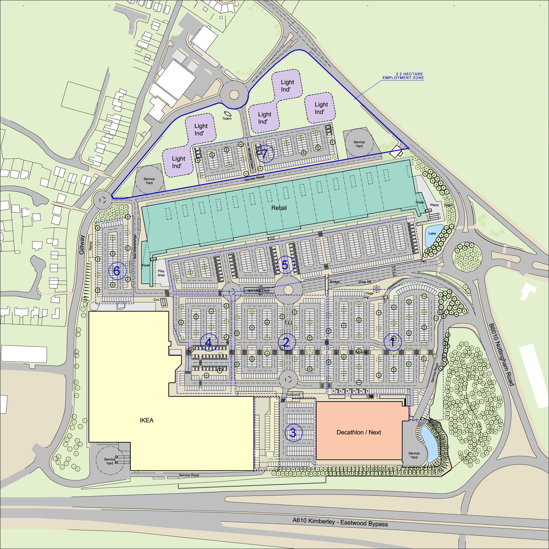 IKEA Giltbrook Retail Park Masterplan
