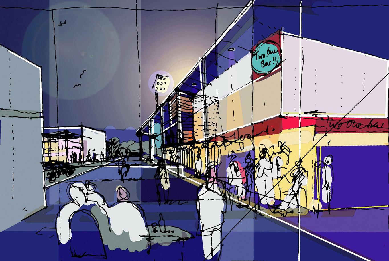 20:20 Vision Hereford United Edgar Street Grid Sketch 2-1 Two One