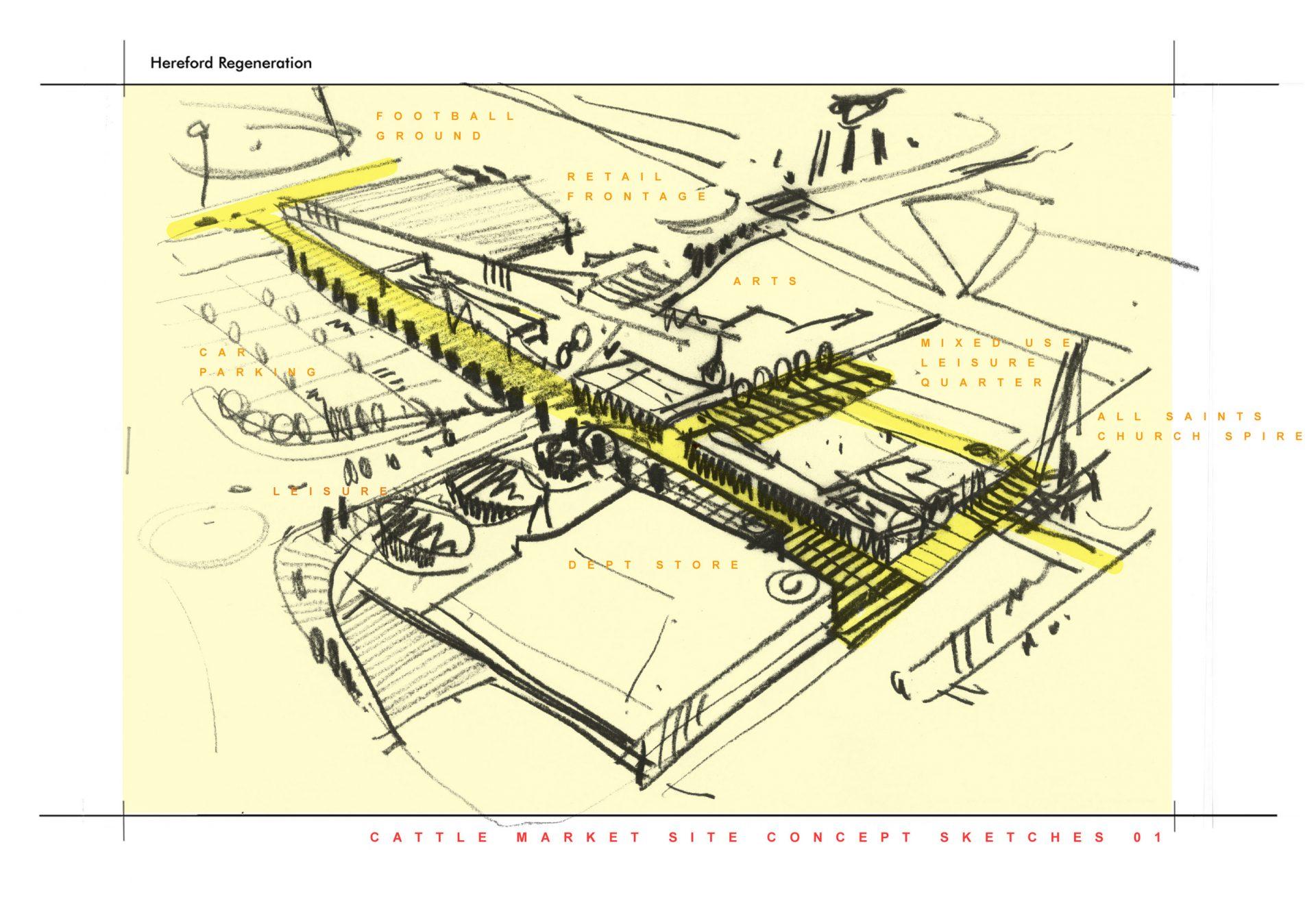 20:20 Vision Hereford Edgar Street Grid Sketch