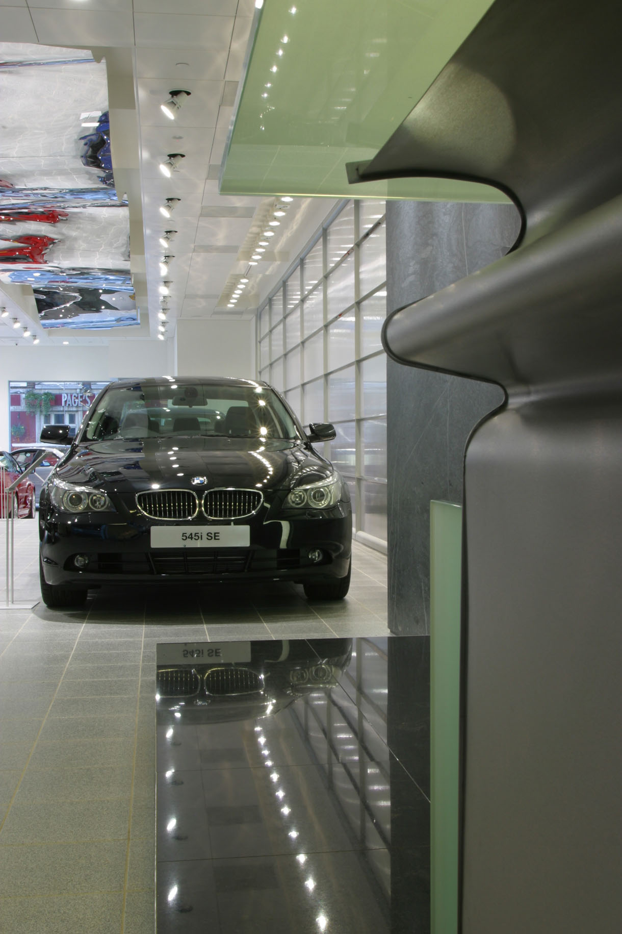 BMW Marsham Street Black 545i SE Reception Desk Ceiling
