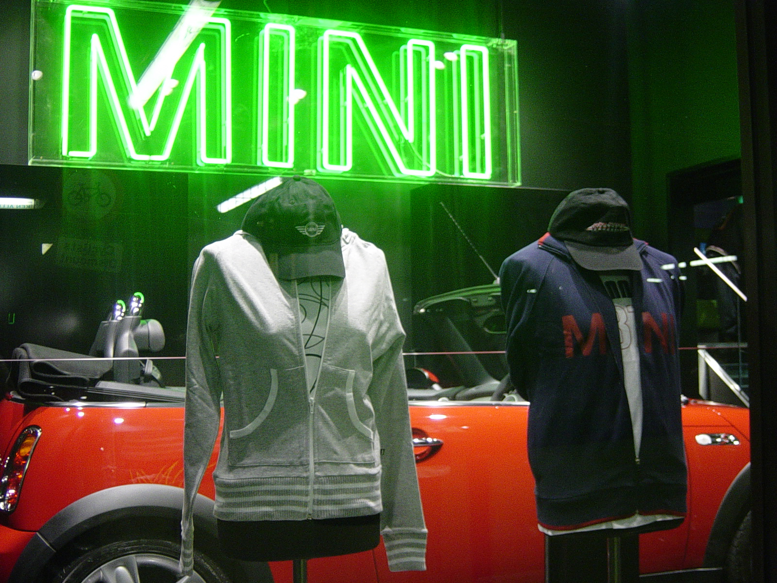 MINI Park Lane Green Neon Cap Hoody