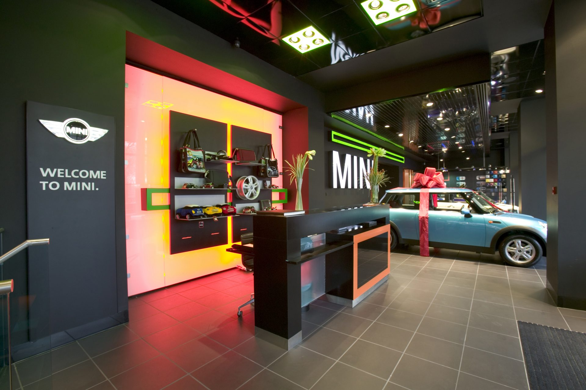 MINI Park Lane Reception Black Orange Green