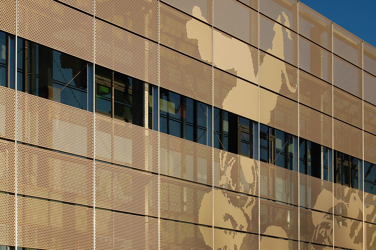 Herefordshire and Ludlow College Perforated Aluminium Screen