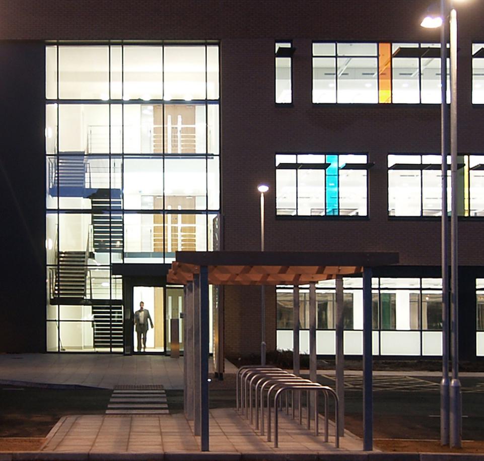 97 Milton Park Office Building Entrance Night