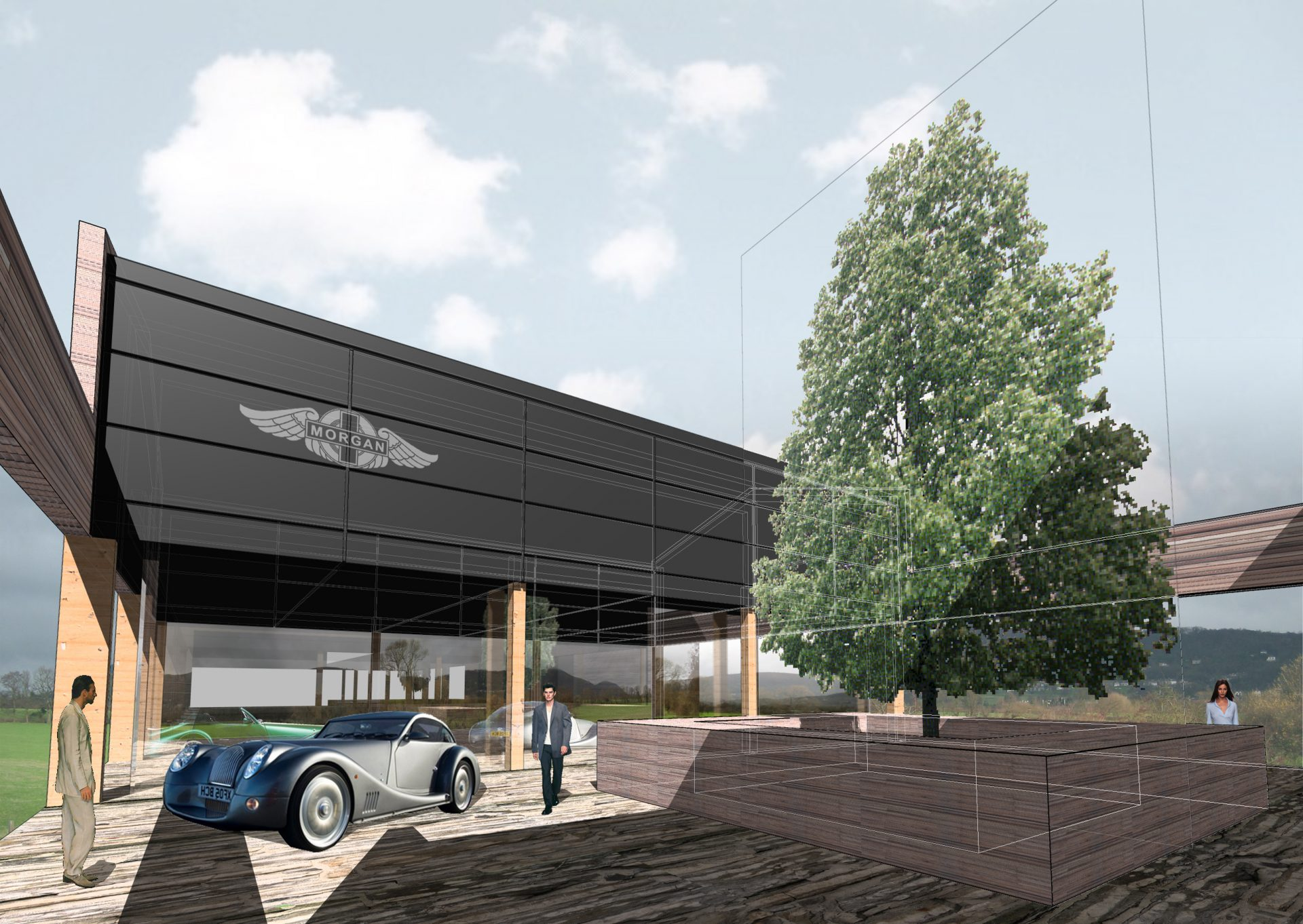 Morgan Motor Company Courtyard Visualisation