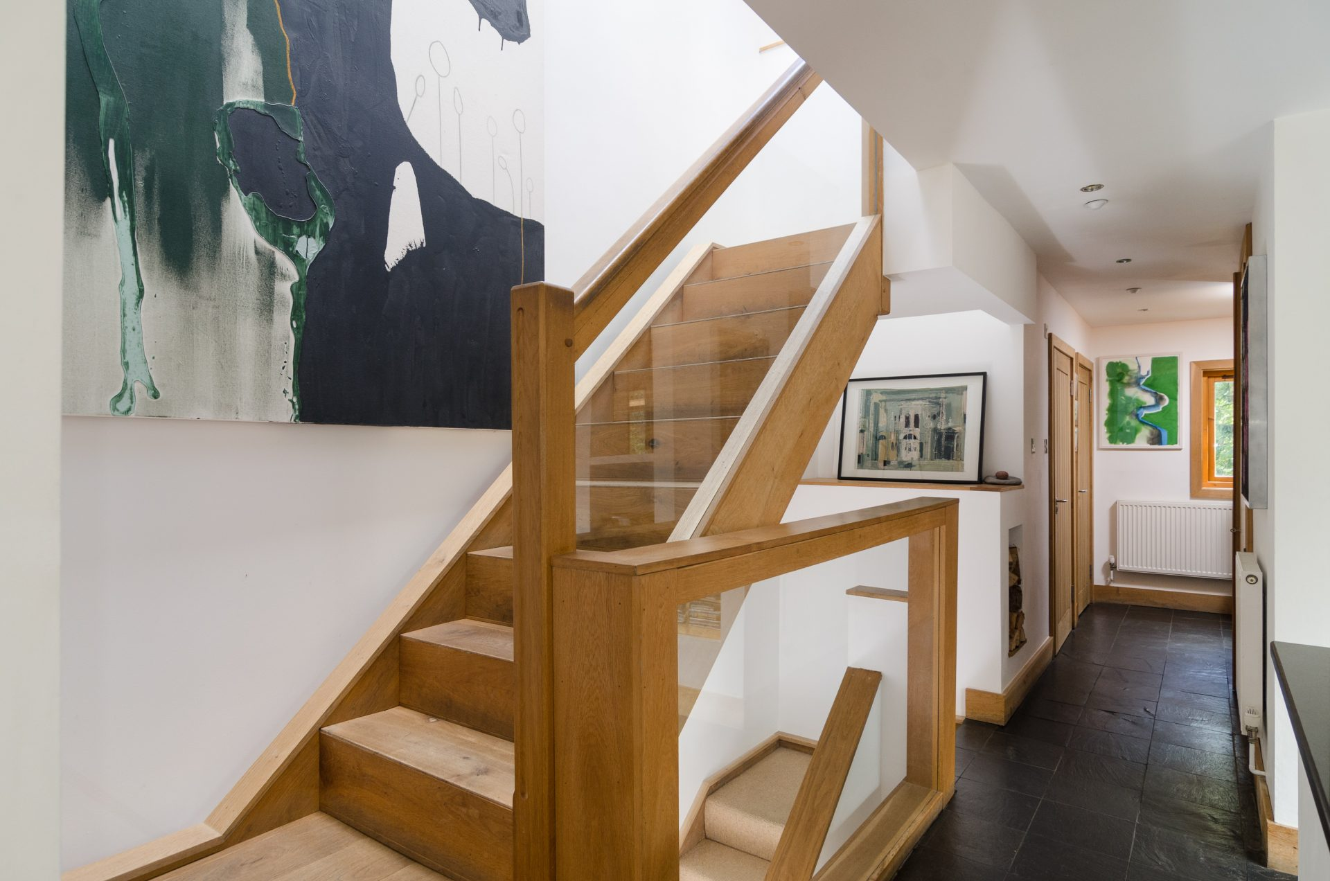 Sion Road Eco-Home Lightwell Timber Balustrade