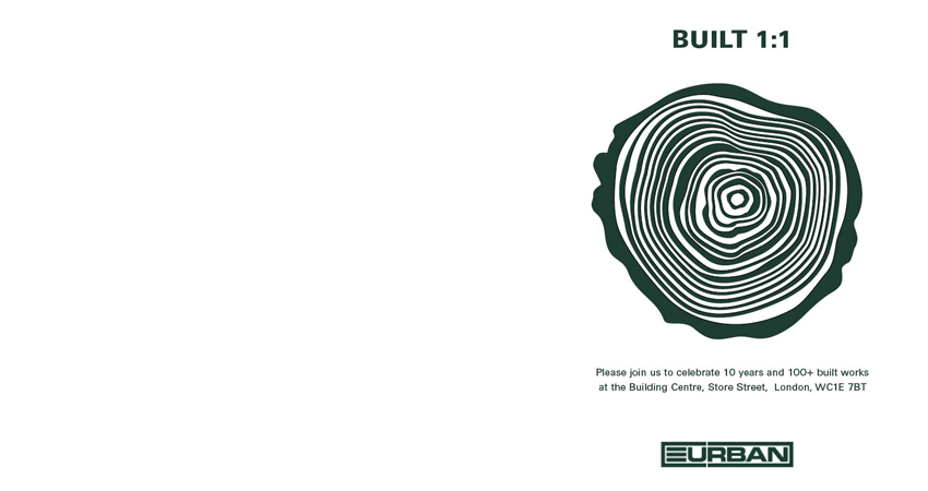 Eurban Built 1:1 Crosslam CLT Book Launch Invitation