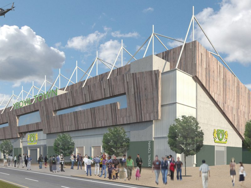 Yeovil Town Huish Park Stadium Visualisation Timber Helicopter
