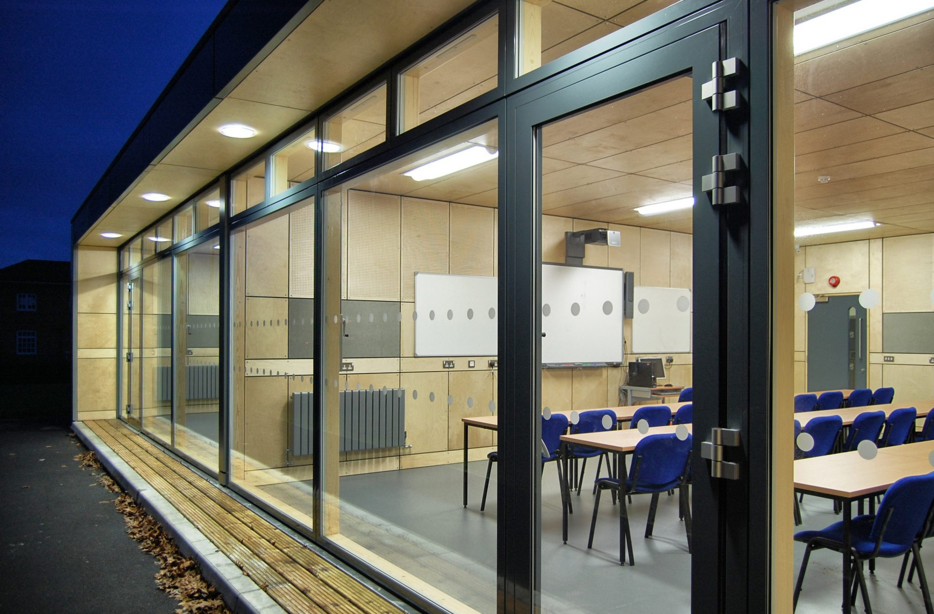 Holme Lacy Fast Track Classrooms Glazing Plywood Panels