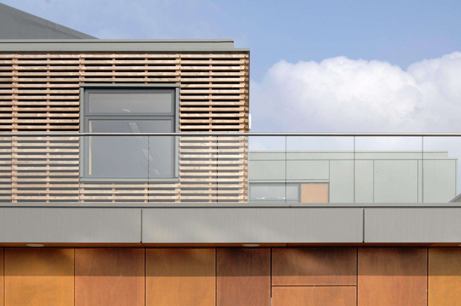 Holme Lacy LRC Glazed Balcony Cedar Plywood