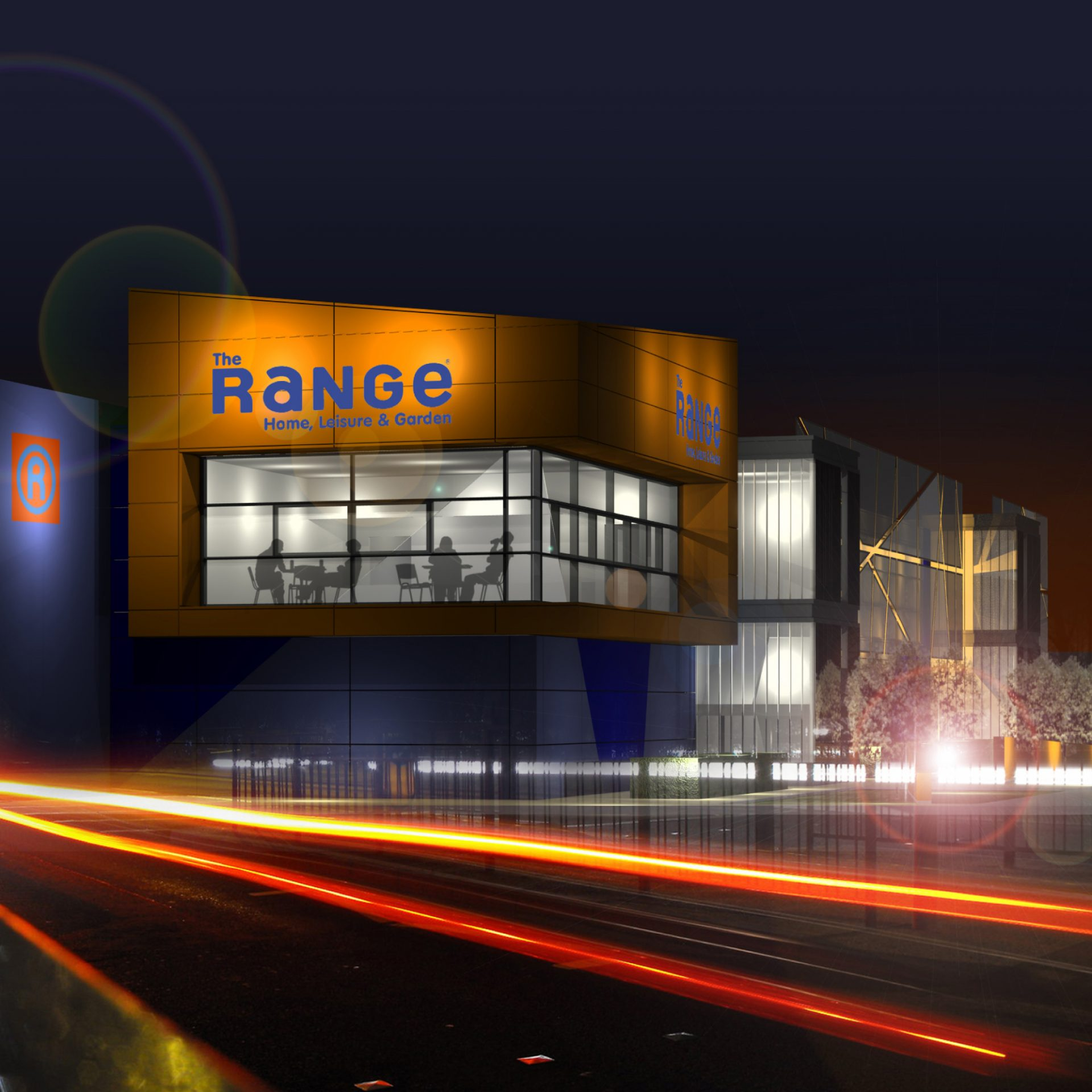 The Range Cafe Plymouth Visualisation Billacombe Road Night