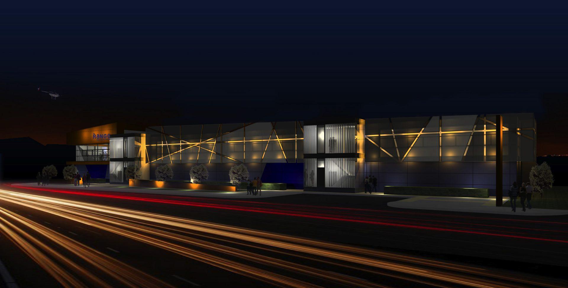 The Range Plymouth Visualisation Billacombe Road Night
