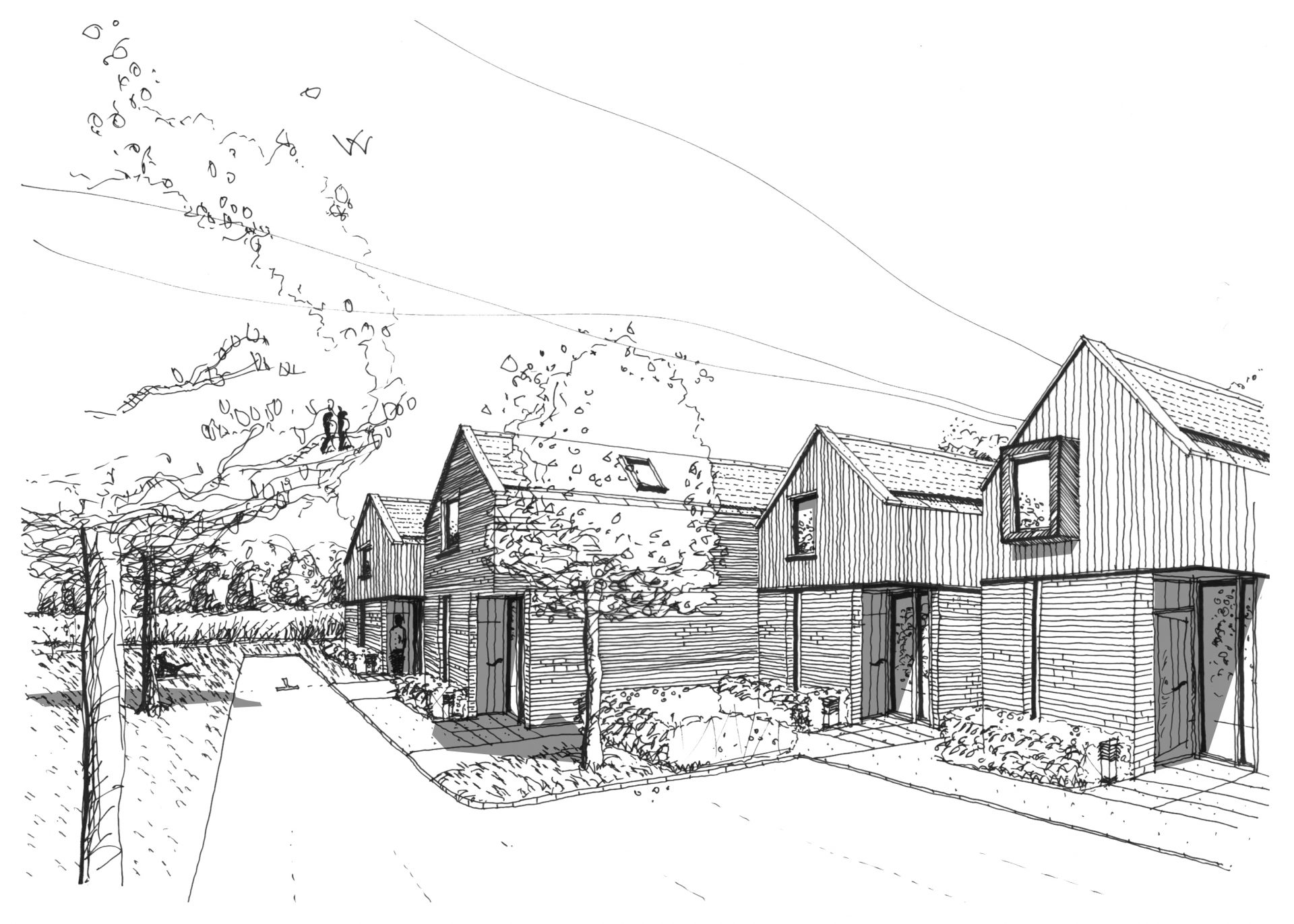 Aston Cross Housing Tewkesbury Architects Sketch