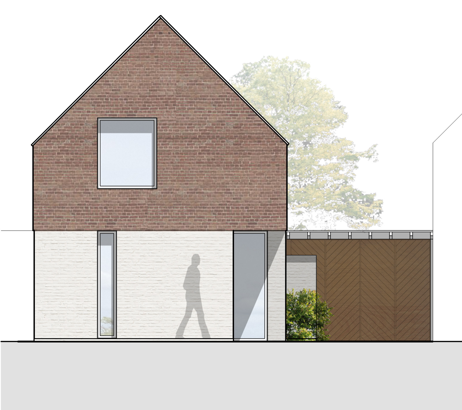 Aston Cross Housing Tewkesbury Elevation