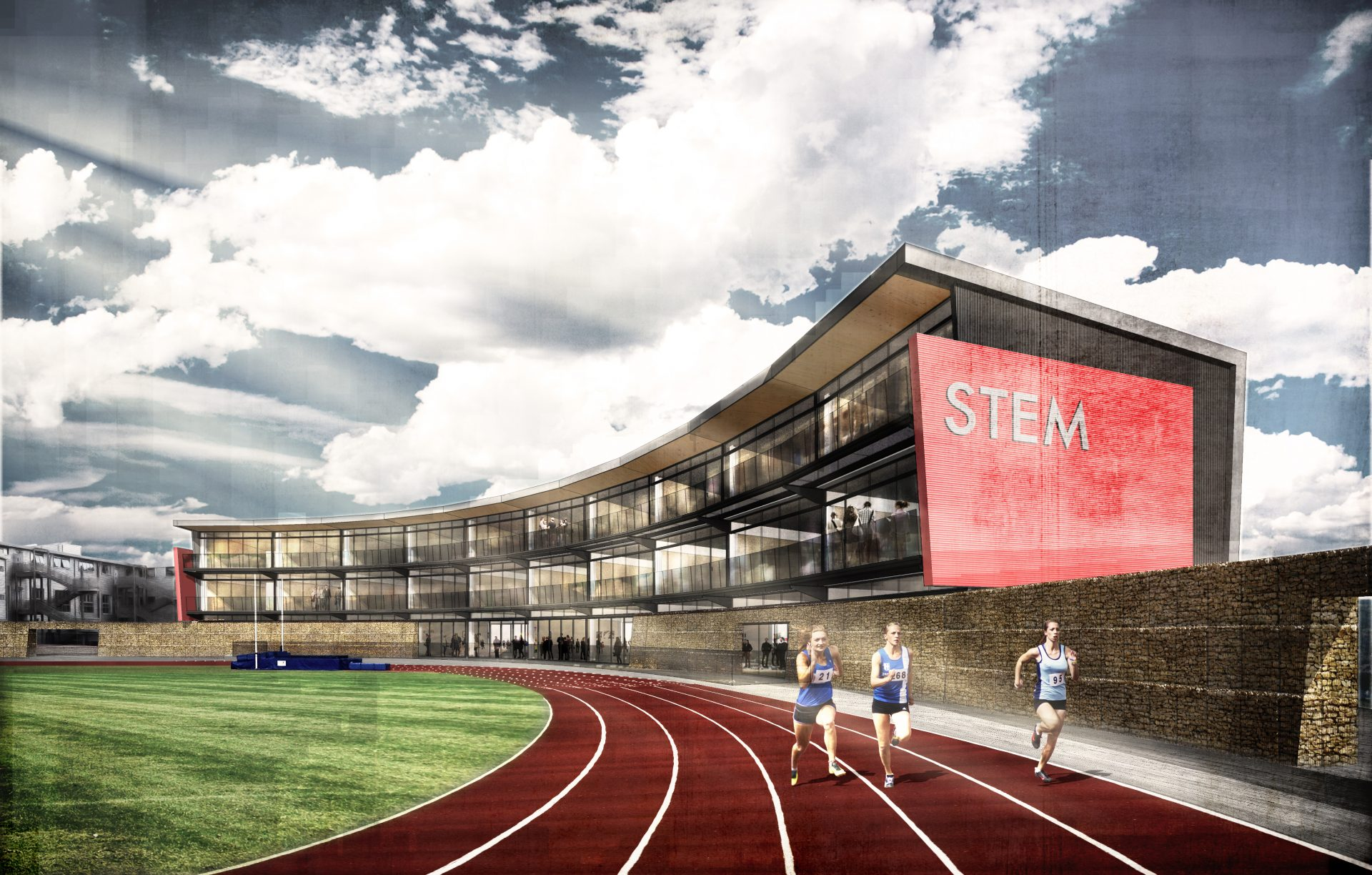 STEM Sustainable School Running Track Sports Academy