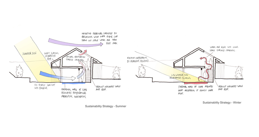Hemp House Environmental Sustainability Strategy Sketch Section