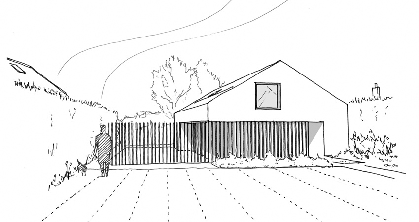 Hemp House Sketch