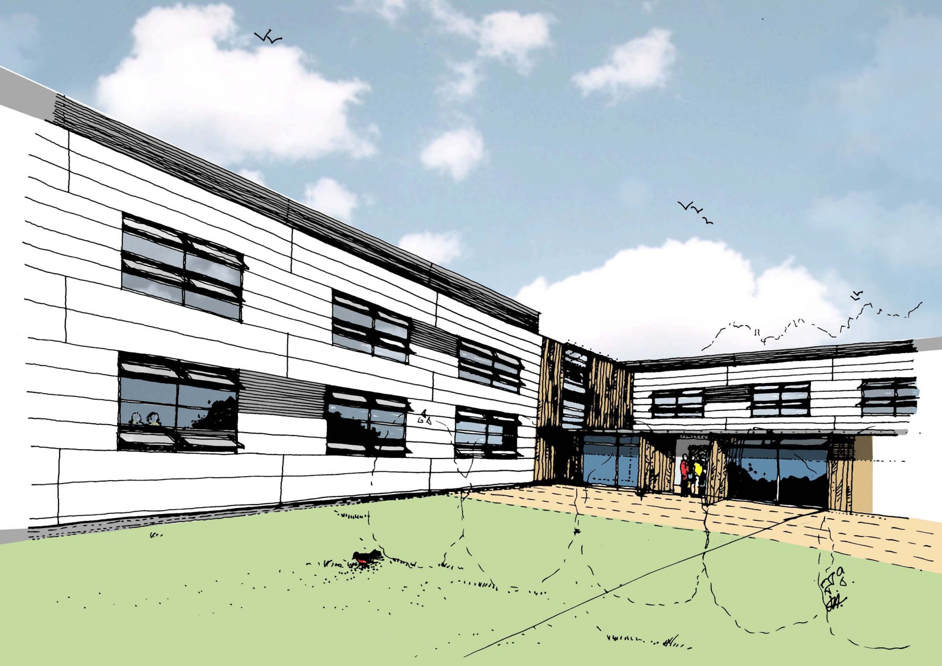 Oxford University Begbroke Science Park Sketch Artists Impression
