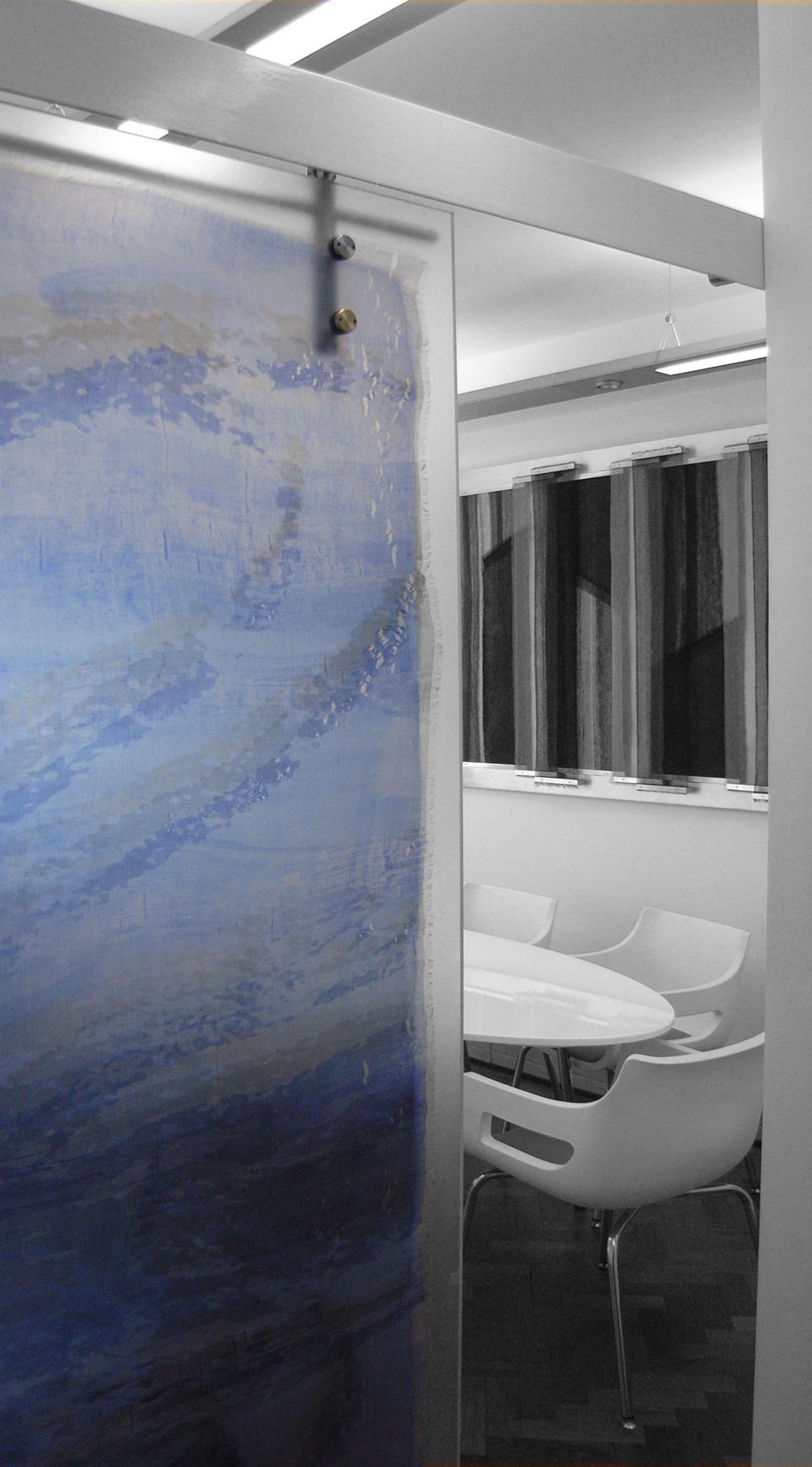 Reflections Gill Hewitt Studios Room Divider Sliding Resin Textile Panel