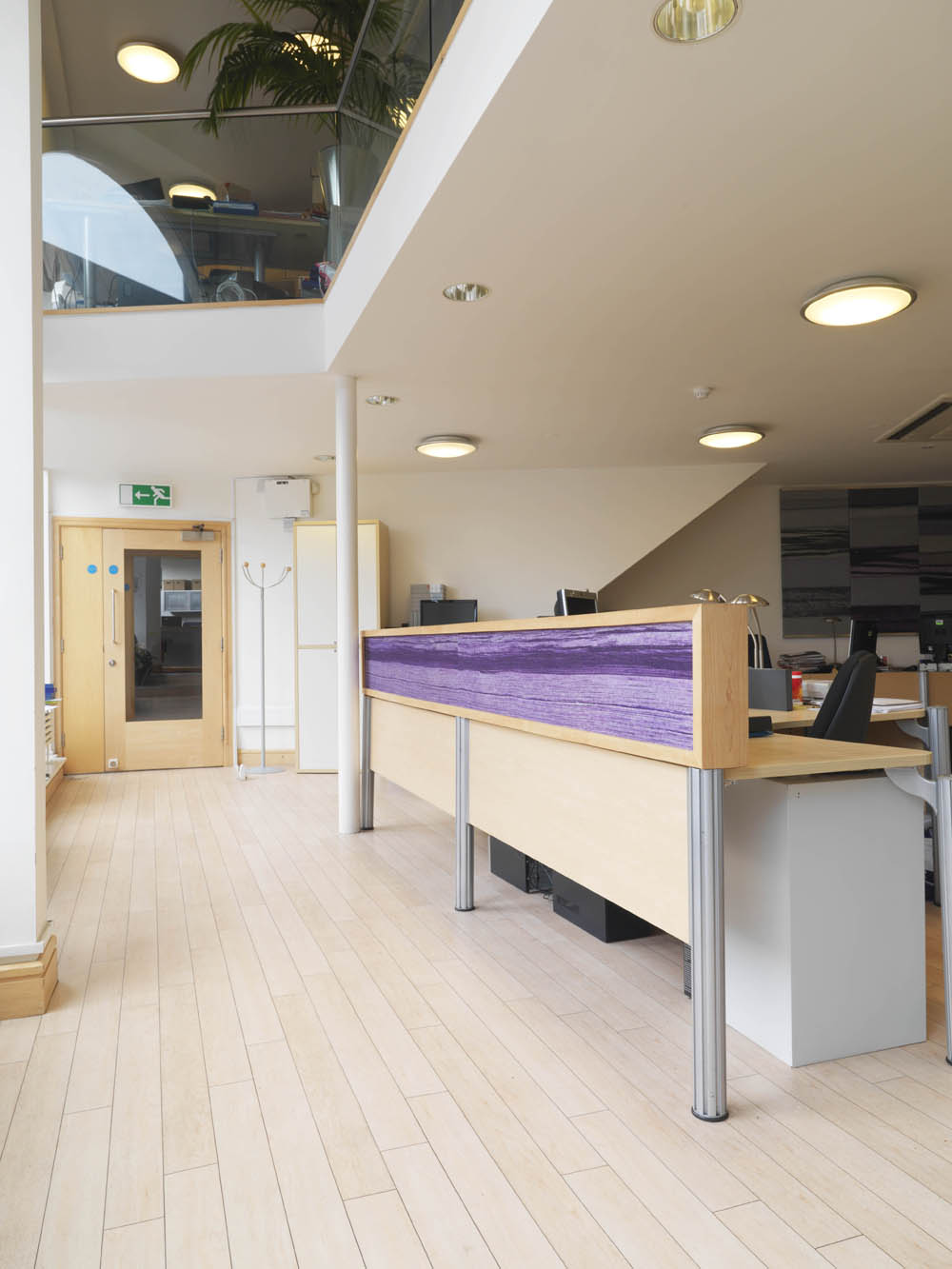 Films @ 59 Desk Panel Gill Hewitt Studios Strata Acoustic Textile