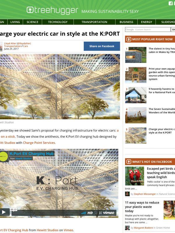 K:Port EV Charging Hub Canopy Treehugger.com