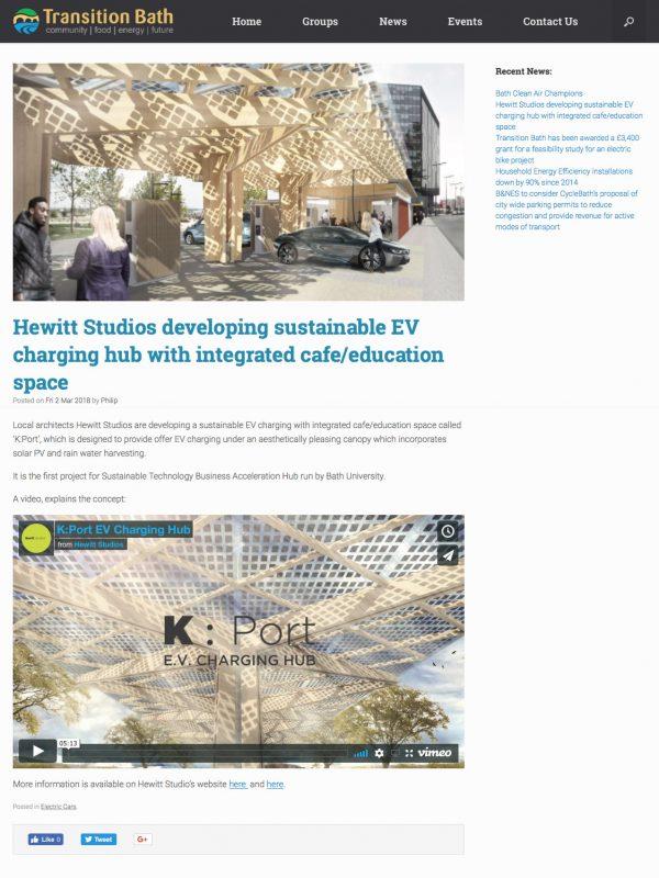 EV Charging Hub Bath University KPort GUL