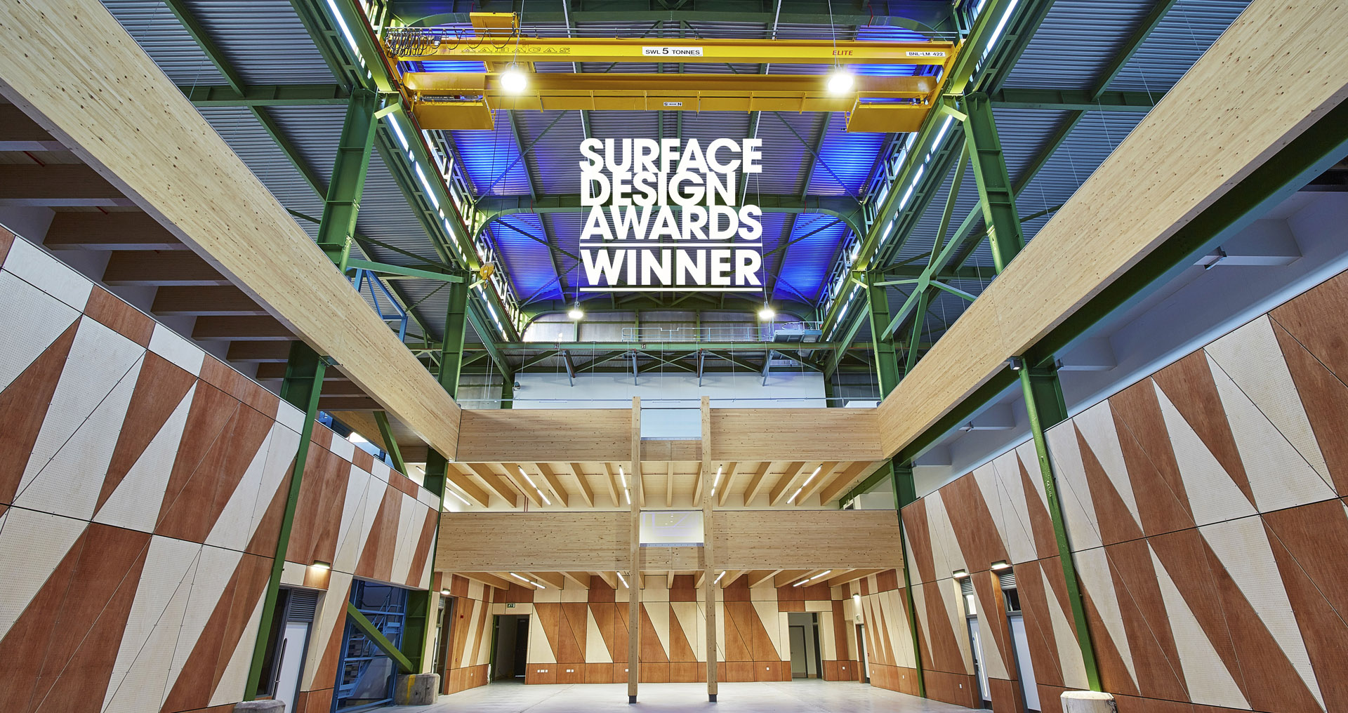 SGS Berkeley Green Surface Design Award Plywood Sustainable Interior