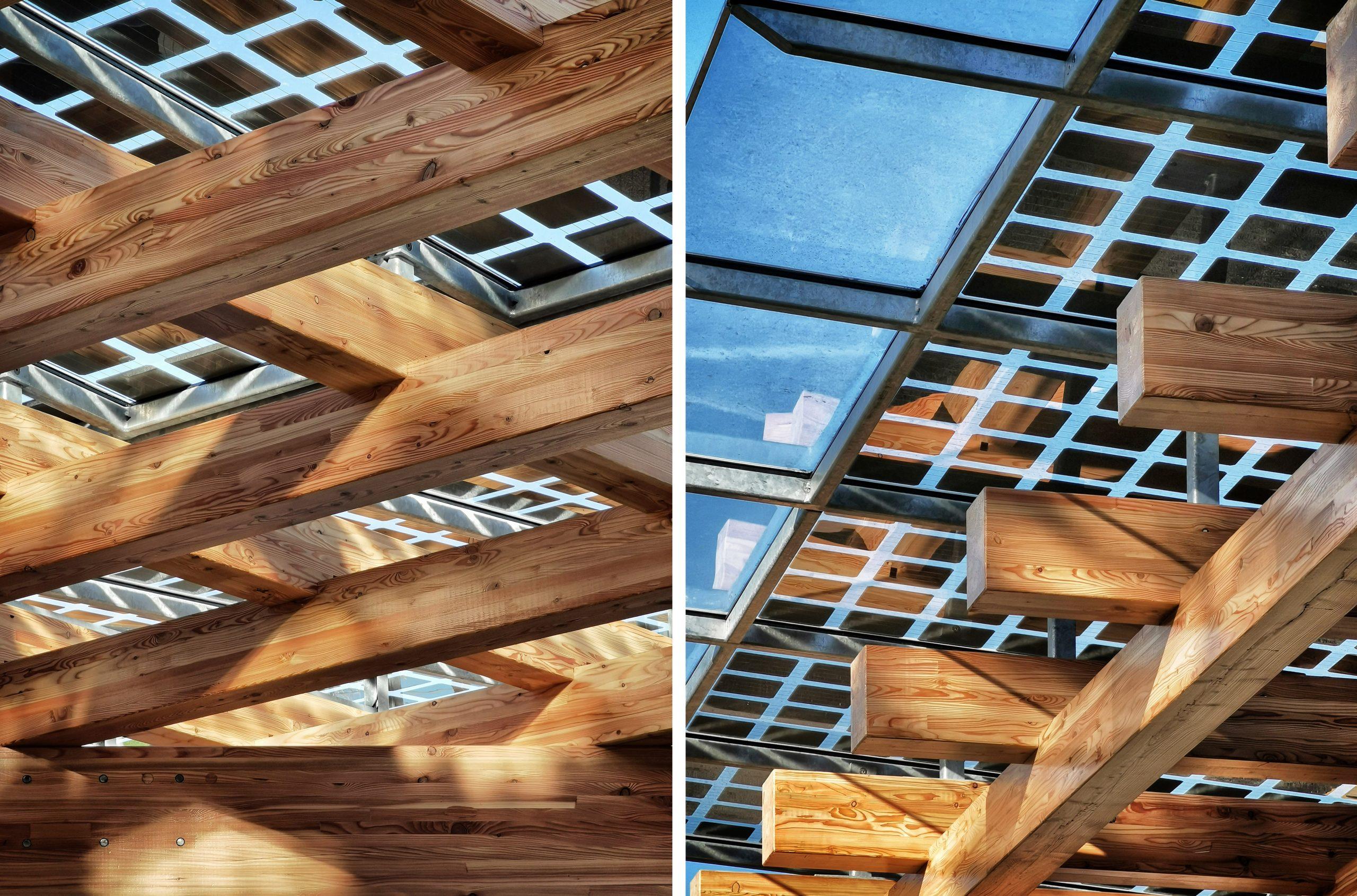 Sunfixings PV Solar Panels BIPV Glulam Hess Timber Frame