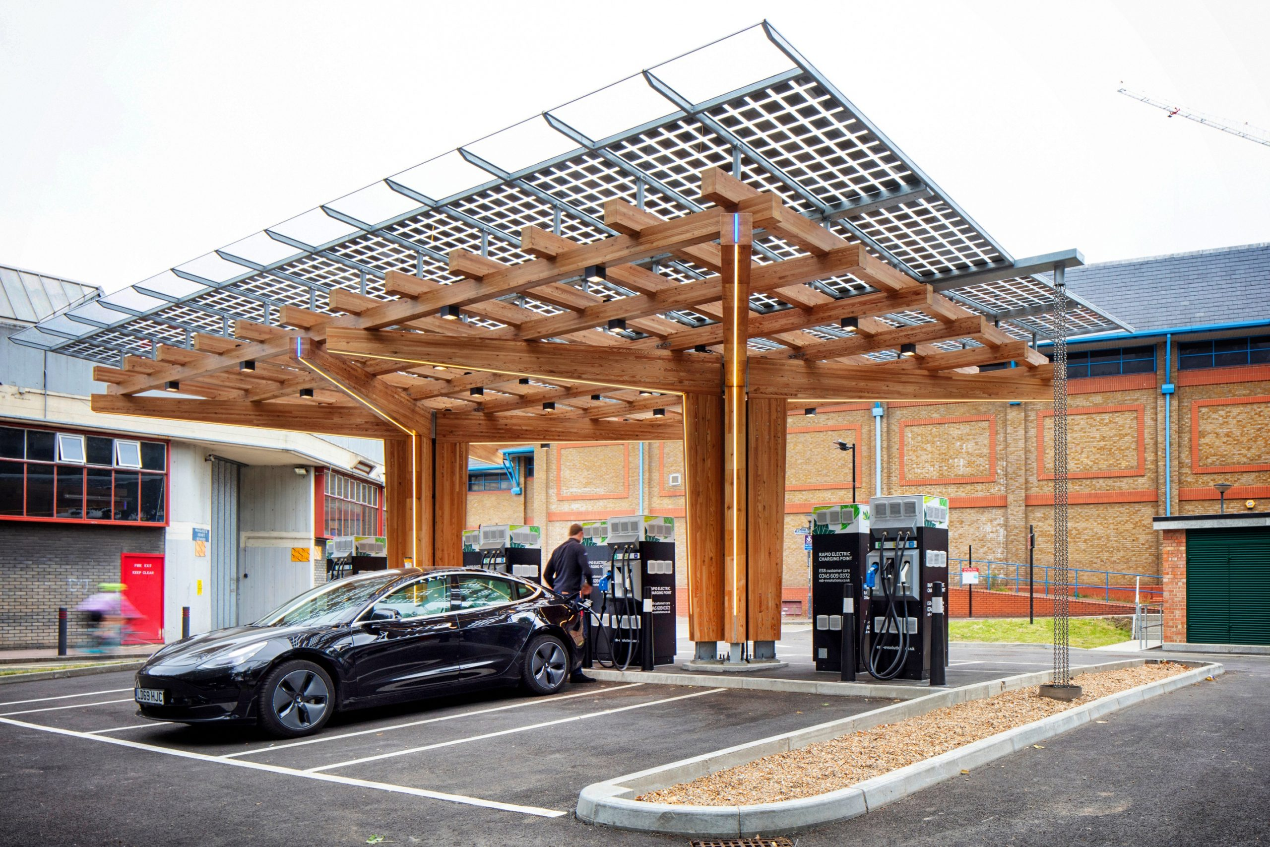 EV Hub Charging Smart Cities Mobility