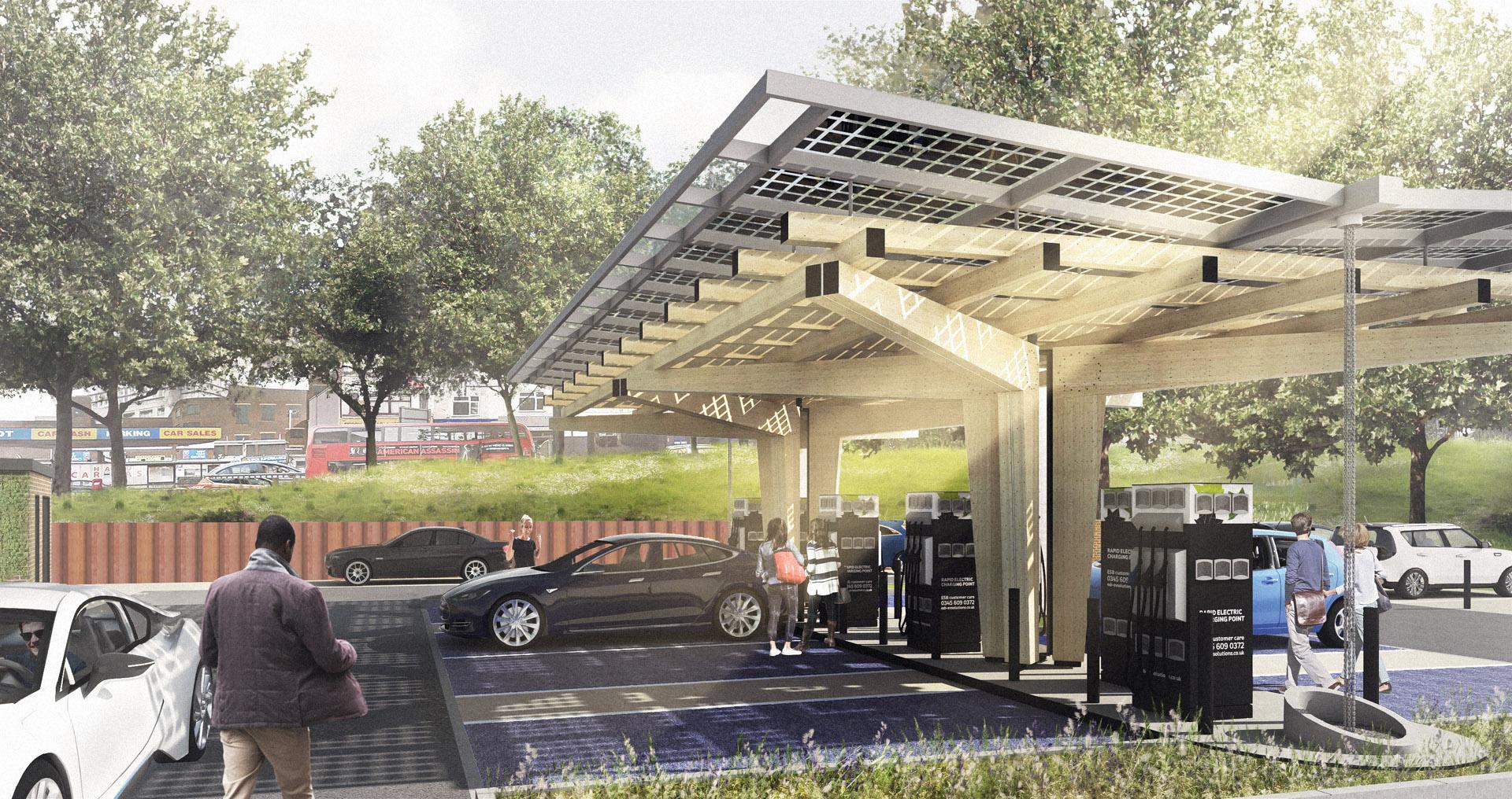 EV Charging Hub Smart Energy PV